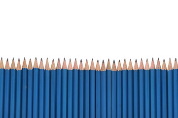 Pencil frame isolated over white background