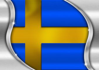 Sweden Metal Flag