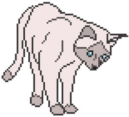 Pixel Cat - vector illustration
