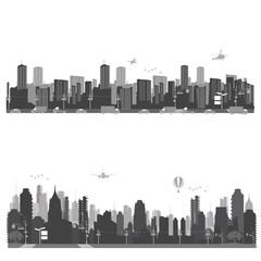 City skyline shiluettes.Vector illustration.
