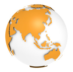 The Earth rotation view 1. Orange shell.
