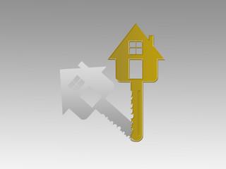 Golden key for house