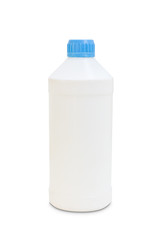 white plastic bottle isolated with clipping path