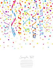 7 Streamer & Confetti Different Colors A4 Mix