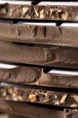 Dark chocolate close-up