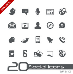 Social Media Icons // Basics