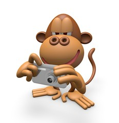 Digital camera and monkeys