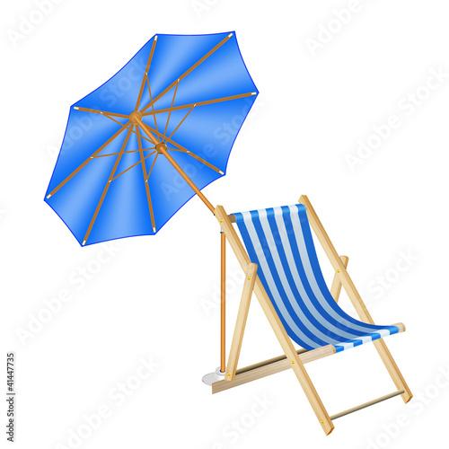 liegestuhl mit sonnenschirm stockfotos und lizenzfreie bilder auf bild 41447735. Black Bedroom Furniture Sets. Home Design Ideas