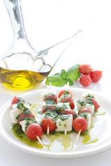 mozzarella and tomato skewer