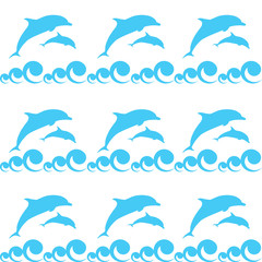 Foto op Plexiglas Dolfijnen dolphin in the sea