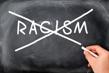 Image result for racism crossed out
