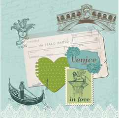 Scrapbook Design Elements - Venice Vintage Set -  in vector