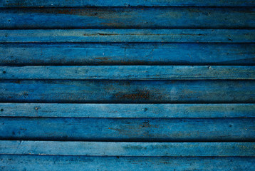 Blue dirty wooden boards