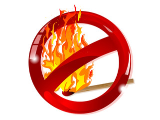 Wall Mural - No fire sign