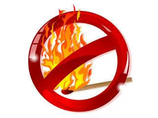 Fototapete - No fire sign