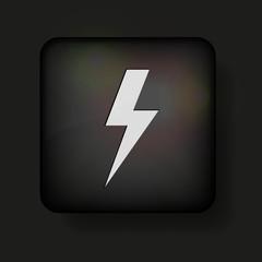 Vector lightning bolt icon on black. Eps10