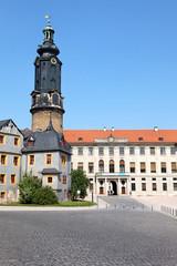 Blick auf Weimarer Stadtschloss, Deutschland