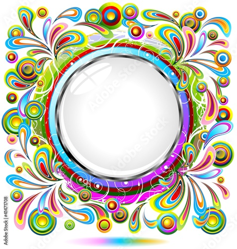 Cornice Design Colori Astratta Abstract Pop Design Frame Vector