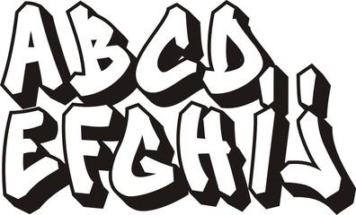 vector graffiti font alphabet (part 1)