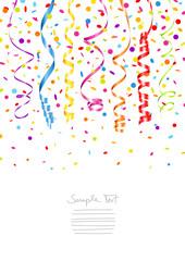7 Streamer & Confetti Colors A4 Mix