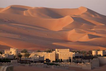 Photo on textile frame Desert Abu Dhabi's desert dunes