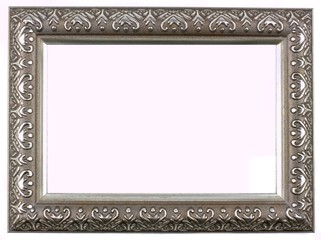 Antique silver and patterned picture frame