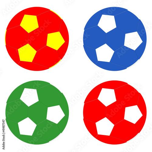 Balones de fútbol de colores