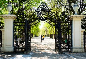 Aluminium Prints Vienna Garden Walkway at Schonbrunn Palace in Vienna, Austria