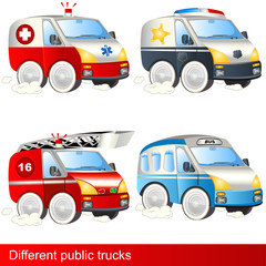 Different public trucks