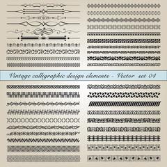 Vintage calligraphic design elements - Vector  set 04