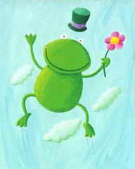 Ilustracja Akwarela żaba