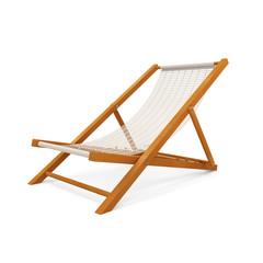 Wooden Beach Chair on white background