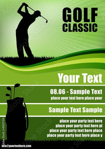 Golf Flyer Stock Image And Royalty Free Vector Files On Fotolia