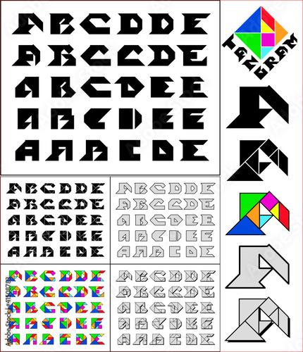 Amsterdam Tangram Font