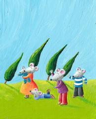 Happy Mice family