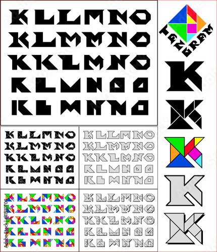 Tangram Fonts - 4 styles - FontSpace