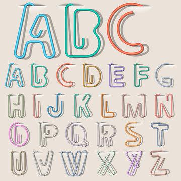 Clip paper alphabet