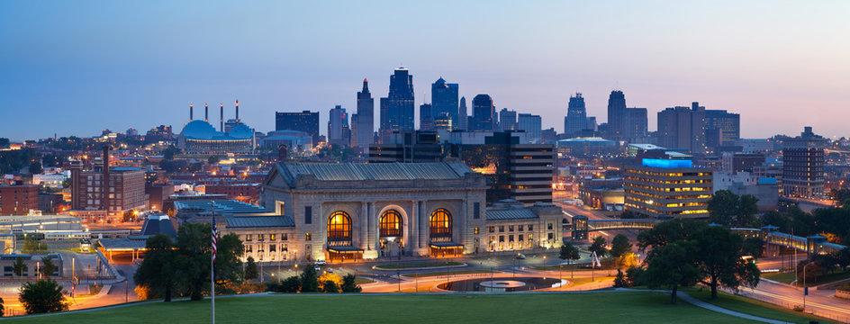 Kansas City skyline panorama.