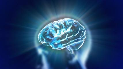 brain blue flare
