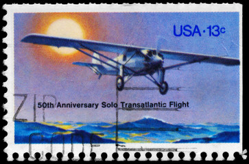 USA - CIRCA 1977 Lindbergh Flight