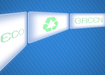 Business pointing screen logo recycle green eco