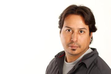 Hispanic Male Portrait with copy space