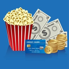popcorn with money