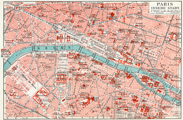 Map of central Paris.