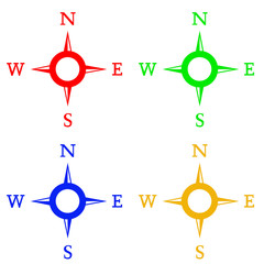 compass set in colors