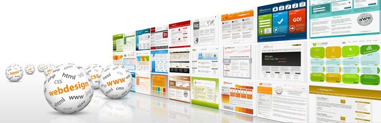 Fototapeta Webdesign, 3D, Kugel, Website, Homepage, Design, Template, SEO obraz