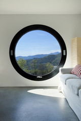 interior ,room with large porthole