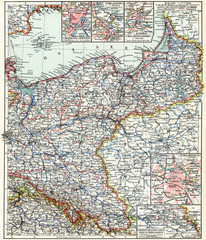 Map of the North-East Germany.