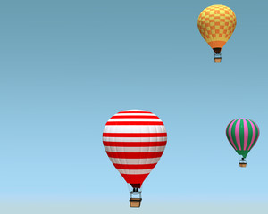a group of hot air balloon on a blue background