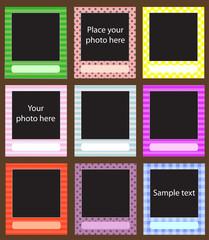 Vector photo frame set for scrapbook
